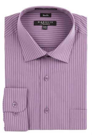 Pin Striped Slim Fit Dress Shirt