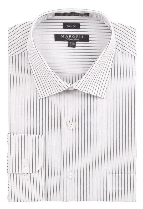 Pin Striped Slim Fit Dress Shirt