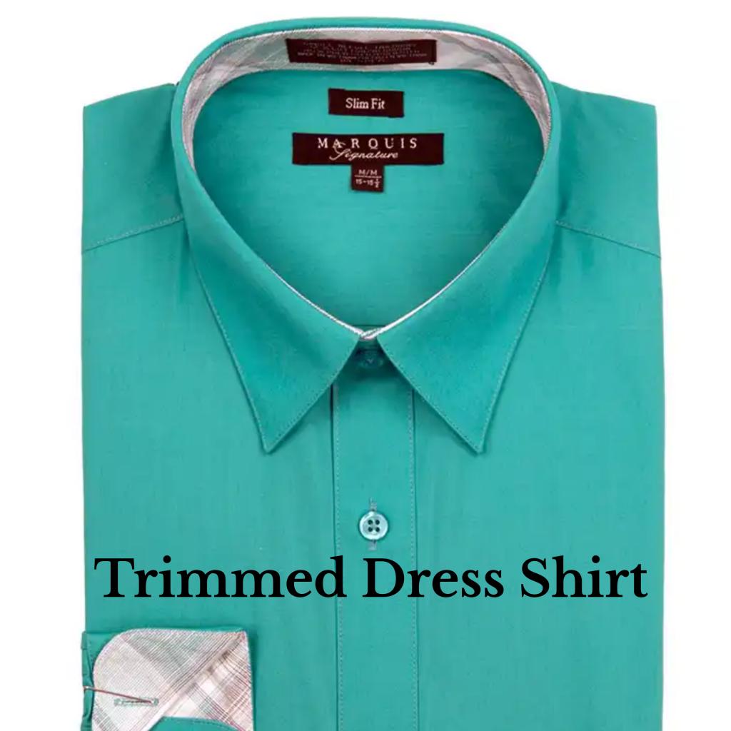 Trimmed Dress Shirt